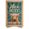 Vintage Highland Cow Nice Butt Portrait Poster