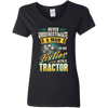 Never Underestimate A Man In His Sixties With A Tractor T-shirt