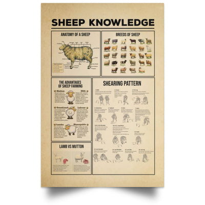 Sheep Knowledge Vertical Poster