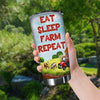 Eat Sleep Farm Repeat 1 20 oz Tumbler
