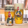 Easily Distracted By Chicken And Beer 30 Oz Tumbler