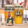 Personalize - Easily Distracted By Chicken And Beer 30 Oz Tumbler