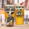 Personalize - Easily Distracted By Dairy Cows And Beer 30 Oz Tumbler