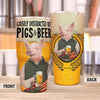 Easily Distracted By Pig And Beer 30 Oz Tumbler