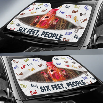 Ew! Six Feet, People - Chicken Auto Sun Shade