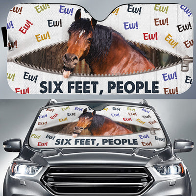 Ew! Six Feet, People - Horse Auto Sun Shade