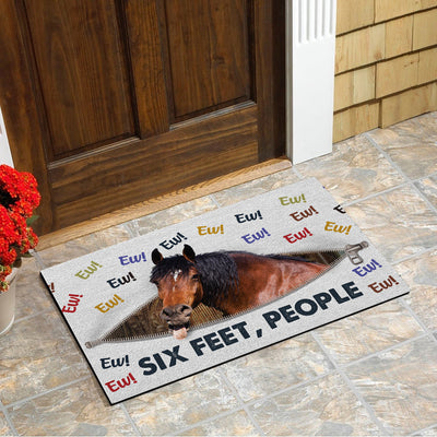 Ew! Six Feet People - Horse Doormat