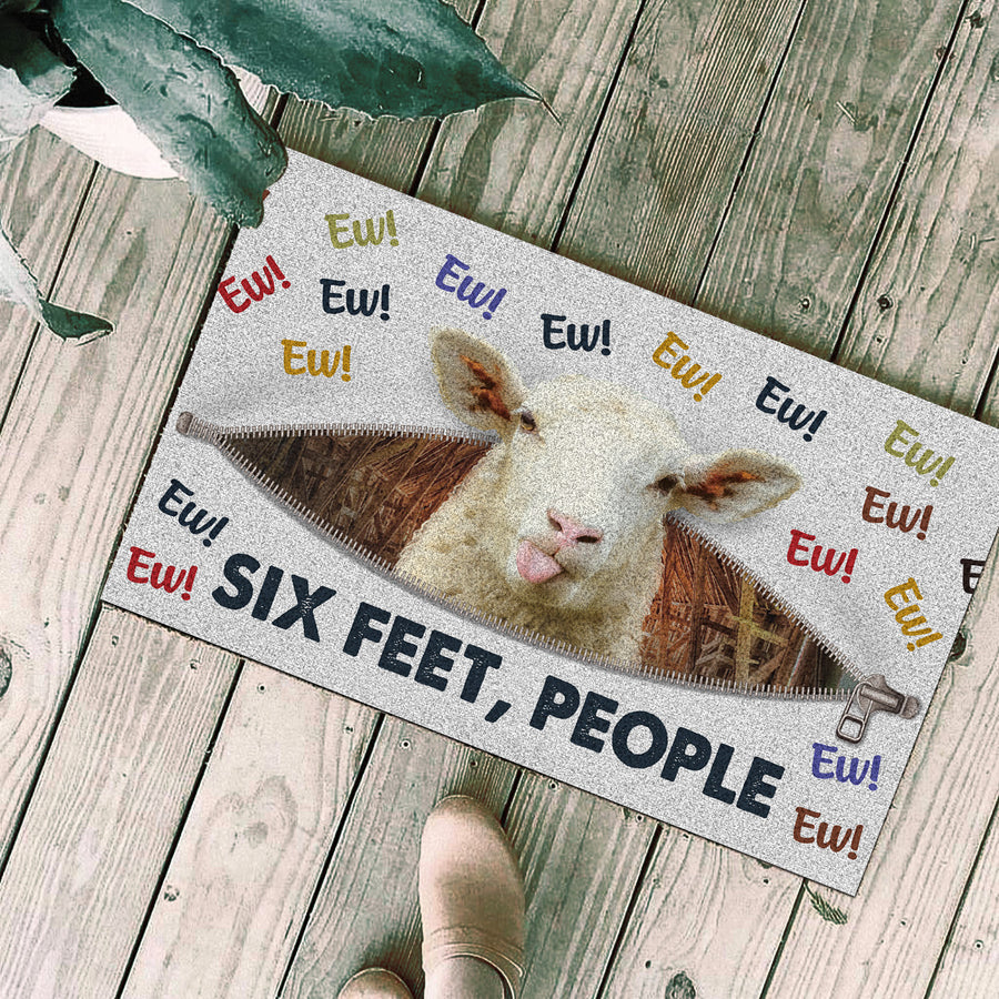 Ew! Six Feet People - Sheep Doormat