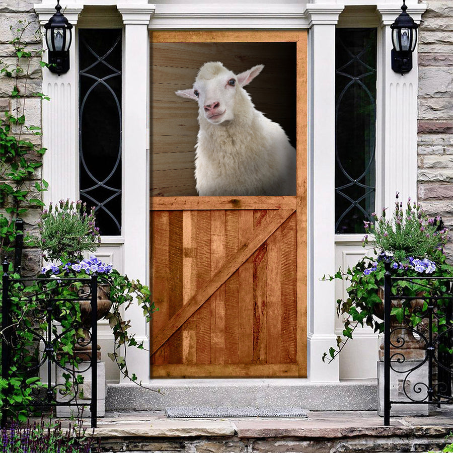 Sheep Barn Door Cover
