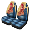Chicken Jeans Pattern Car Seat Covers