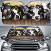 Cows On The Field Auto Sun Shade