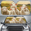 Sheeps On The Field Auto Sun Shade