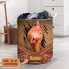Personalized Chicken Rattan 2 Laundry Basket
