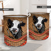 Cow Rattan Pattern 2 Laundry Basket