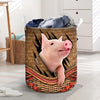 Pig Rattan Pattern 2 Laundry Basket