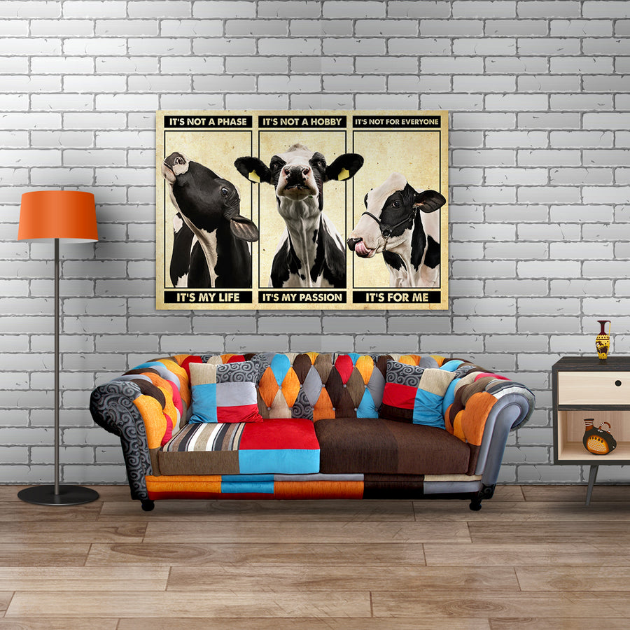 Cattle It's Not A Phase Landscape Canvas