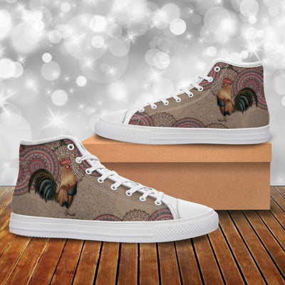 Chicken Doodle Canvas Shoes