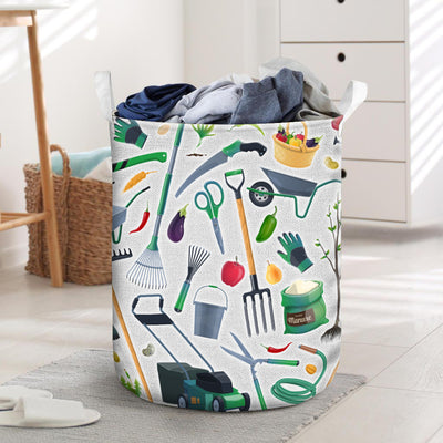 Colorful Farmer Tools Laundry Basket