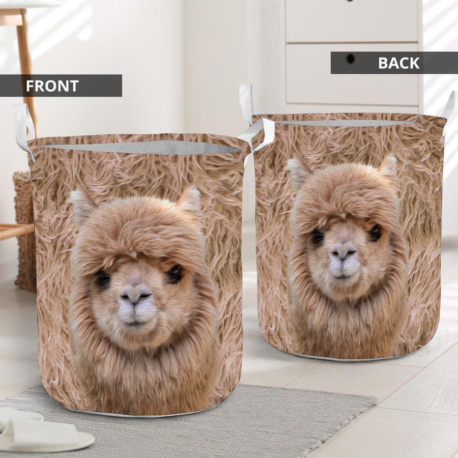 Cute Alpaca Face Laundry Basket