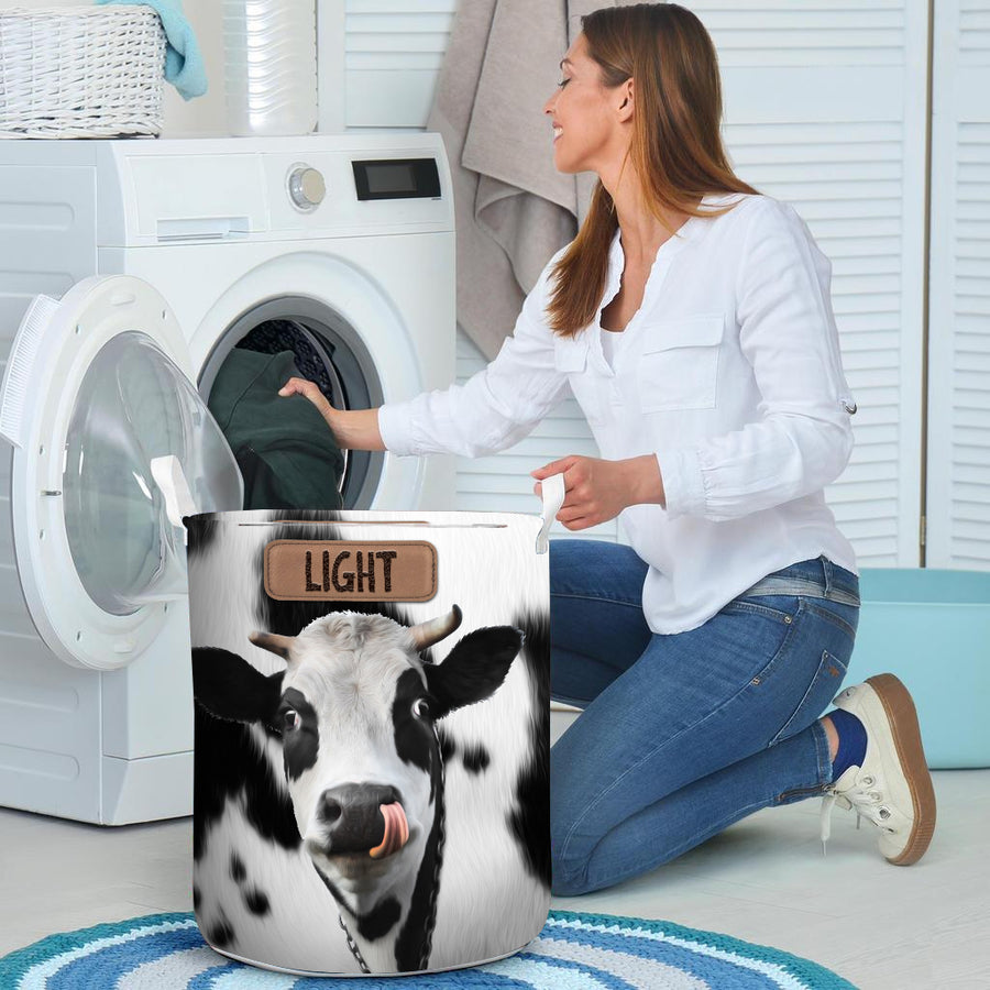 Light Cute Cow Face Laundry Basket