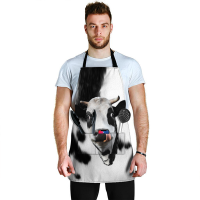 Cute Face Dairy Cow Spot Apron