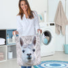 Cute Llama Face Laundry Basket