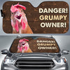 Danger Grumpy Owner - Chicken Auto Sun Shade