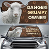 Danger Grumpy Owner - Sheep Auto Sun Shade
