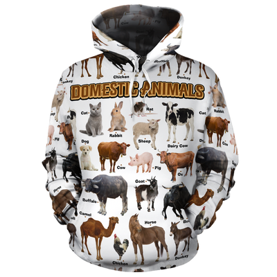 Farm Animals All-over Hoodie