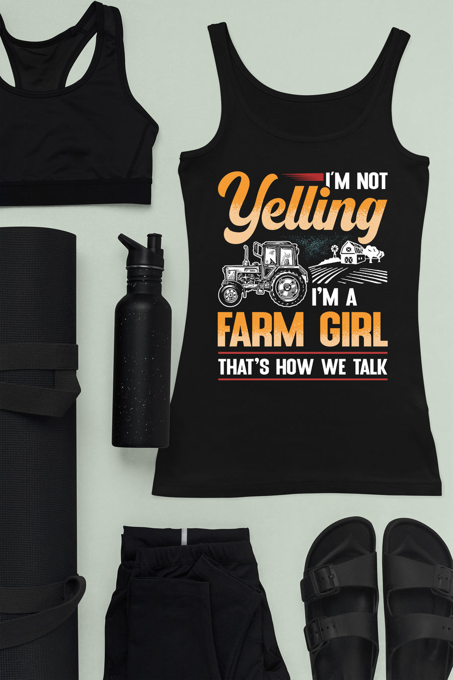 Farm Girl Talk Ladies Ideal Racerback Tank