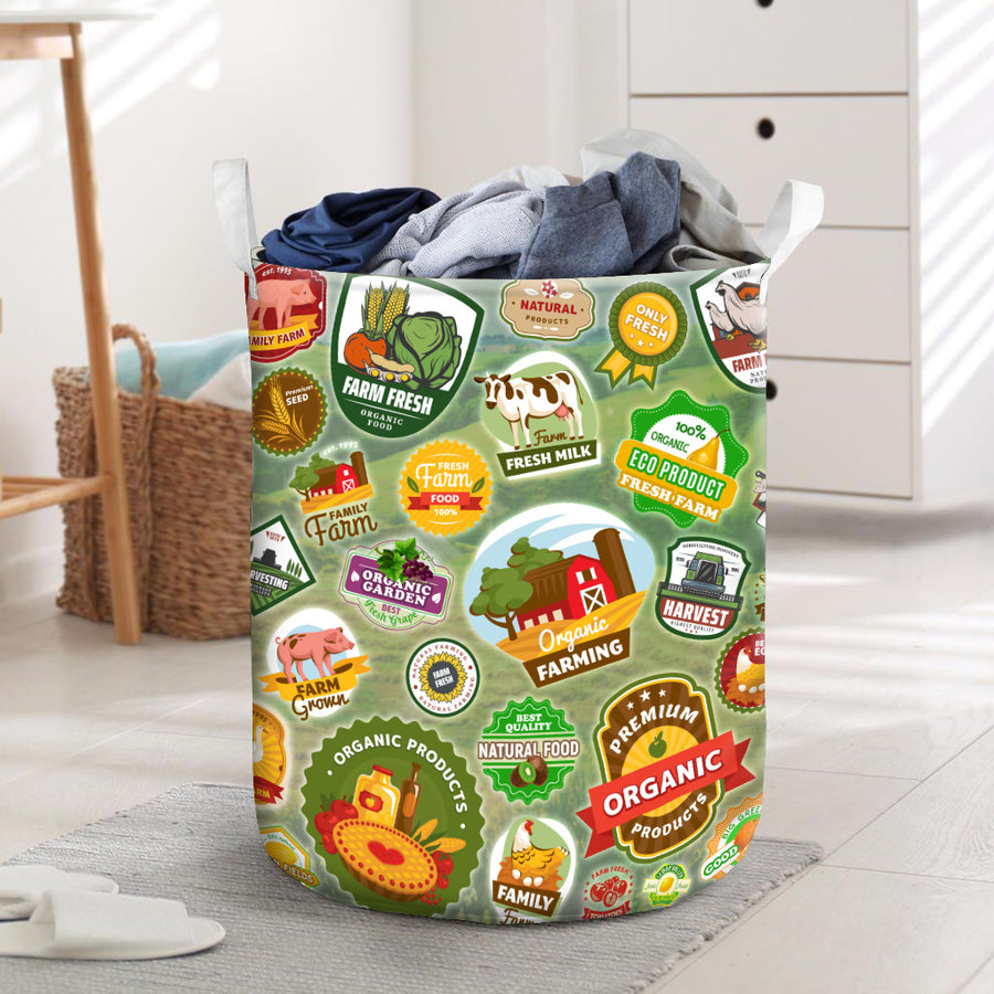 Farmer Badges Laundry Basket