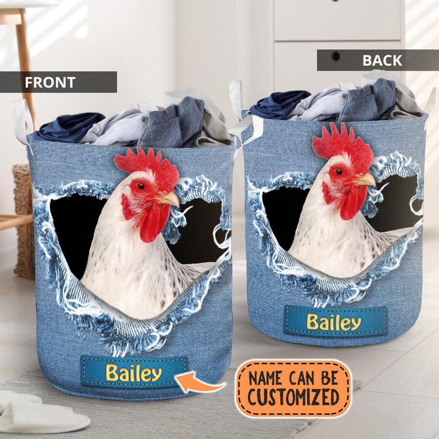 Personalized Funny Animals Jeans Laundry Basket