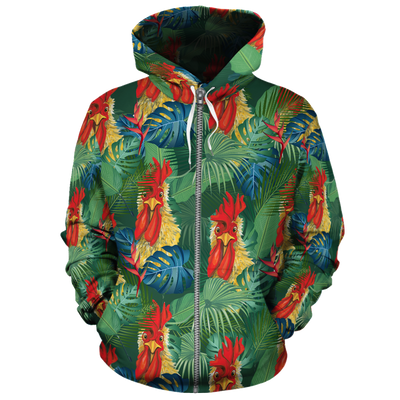Funny Chicken Tropical 2 All-over Hoodie