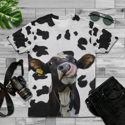 Cute Dairy Cow AOP Tee
