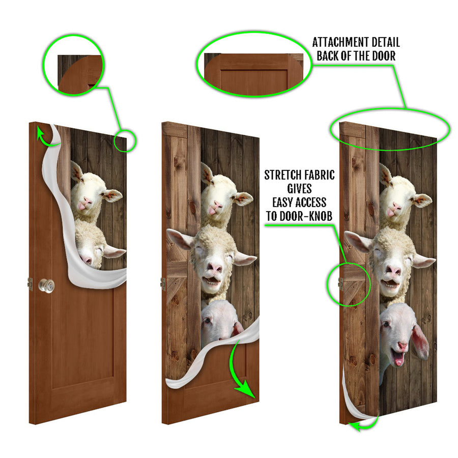 Cute Sheep Door Cover