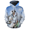 Horse Water Color All-over Hoodie