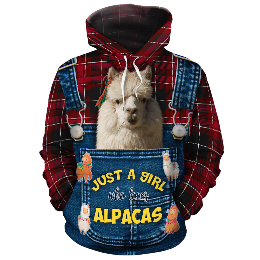 Just A Girl Who Loves Alpacas 2 All-over Hoodie