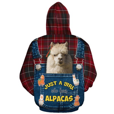 Just A Girl Who Loves Alpacas 1 All-over Hoodie