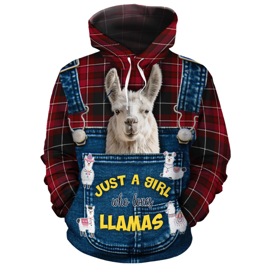 Just A Girl Who Loves Llamas 2 All-over Hoodie