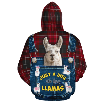 Just A Girl Who Loves Llamas 1 All-over Hoodie