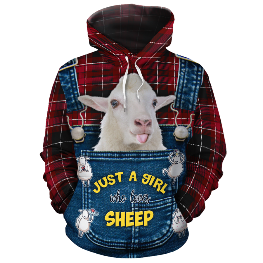 Just A Girl Who Loves Sheep 1 All-over Hoodie