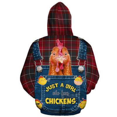 Just A Girl Who Loves Chickens Christmas All-over Hoodie