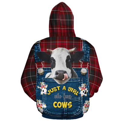 Just A Girl Who Loves Cows 1 Christmas All-over Hoodie