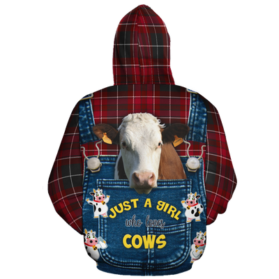 Just A Girl Who Loves Cows 2 Christmas All-over Hoodie