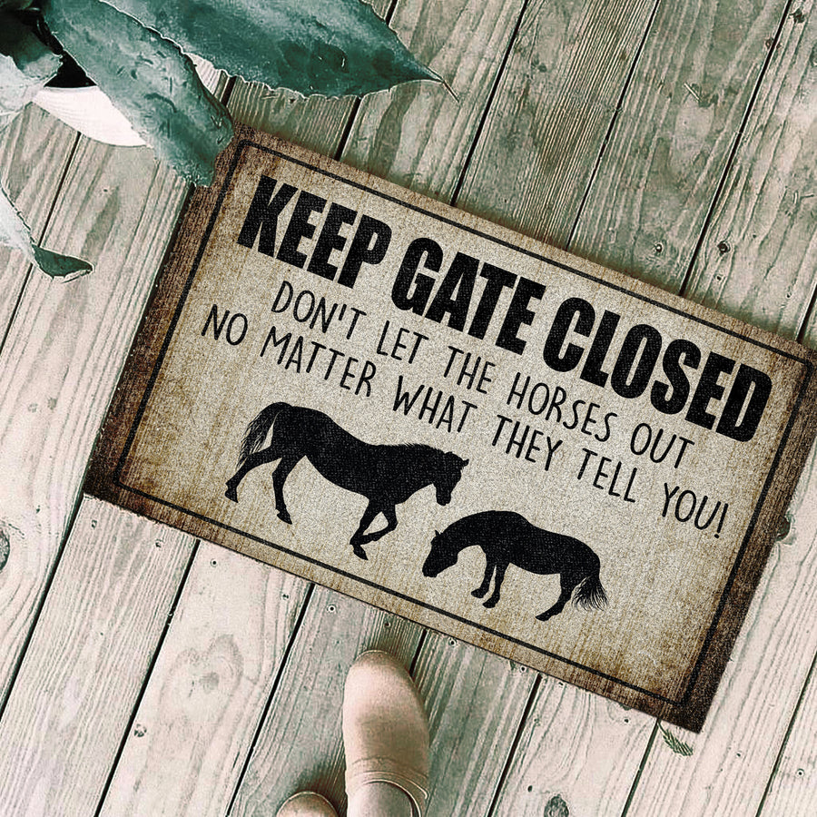Keep Gate Closed-Horse Doormat
