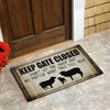 Keep Gate Closed-Sheep Doormat