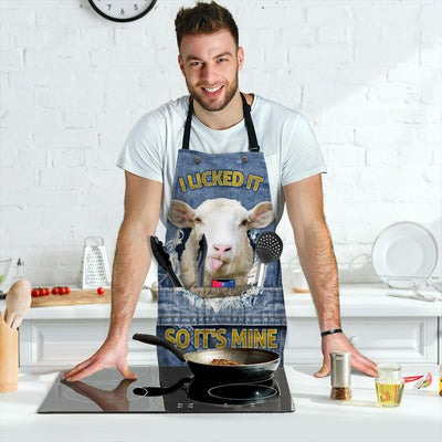 Licked It, So It's Mine Sheep Spot Apron