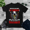 Never Underestimate A Farmer And Was Born In November  Cow T Shirt