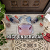 Nice Underwear Christmas Doormat - Cow