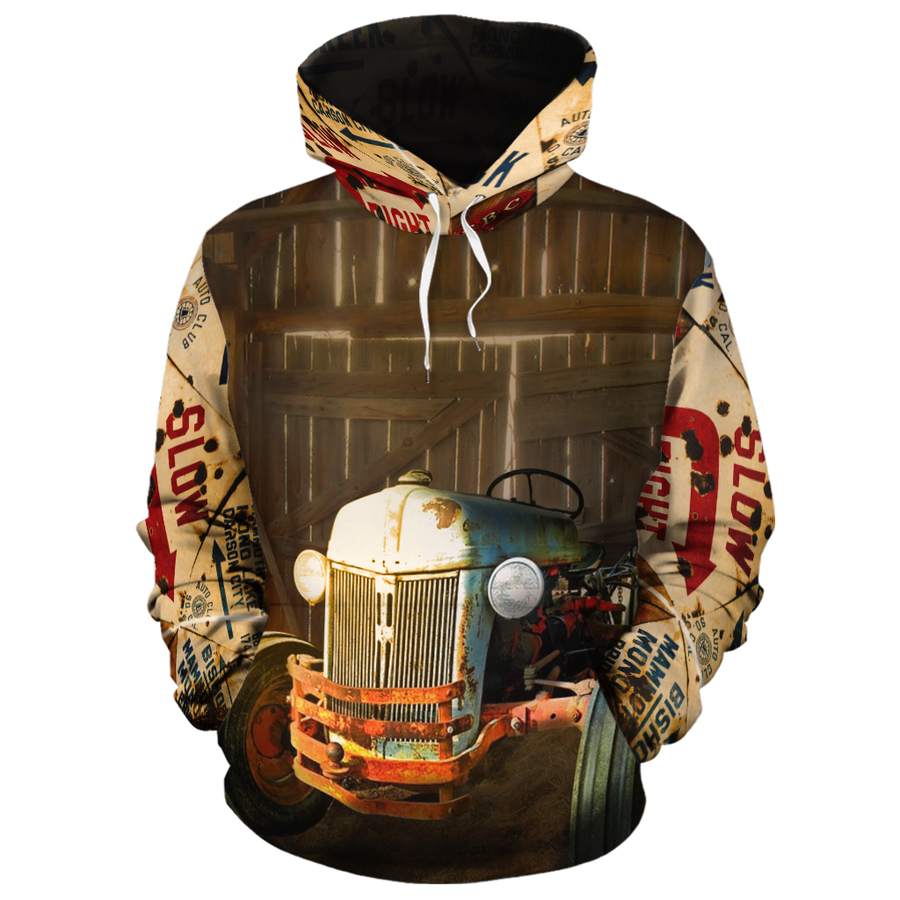 Old Tractor All-over Hoodie